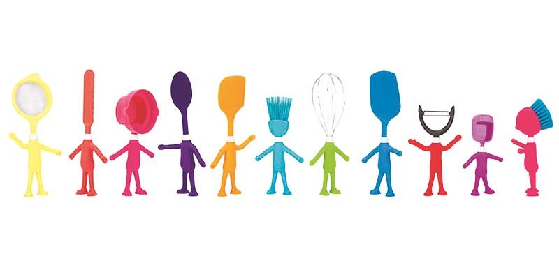 Alegra tu cocina con coloridos divertidos y flexibles for Utensilios de cocina divertidos