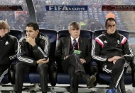 Real Madrid's coach Ancelotti looks on during the semi-final soccer match against Mexico's Cruz Azul at the Club World Cup soccer tournament in Marrakech stadium