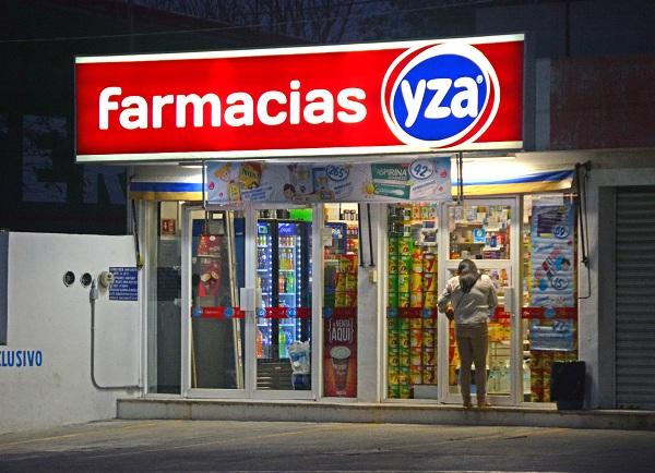 Asaltan otra farmacia Yza; botín, 3 mil pesos