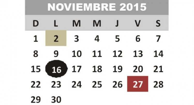 CALENDARIO SEDUC 2015-2016 VERSION OCT 2015