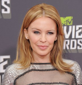 CULVER CITY, CA - APRIL 14:  Singer Kylie Minogue arrives at the 2013 MTV Movie Awards at Sony Pictures Studios on April 14, 2013 in Culver City, California.  (Photo by Jon Kopaloff/FilmMagic)