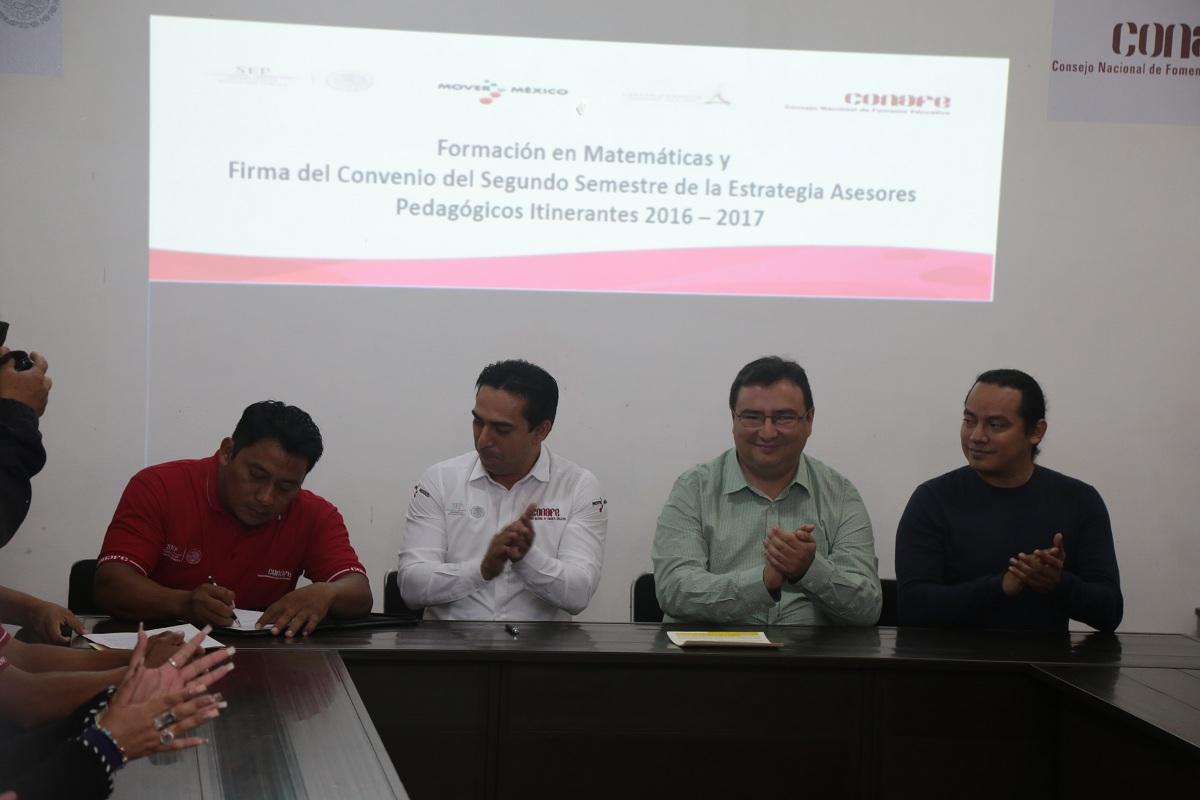 Renueva conafe convenio con asesores pedag gicos for Fuera de convenio 2017