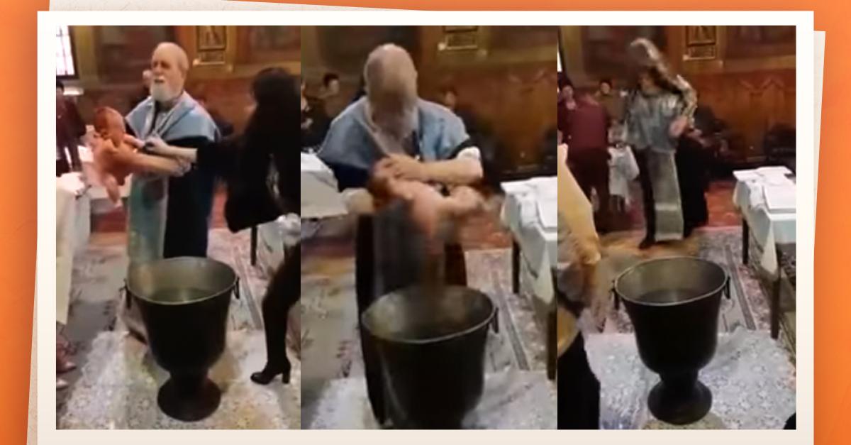 Indignación con un cura por un violento bautismo