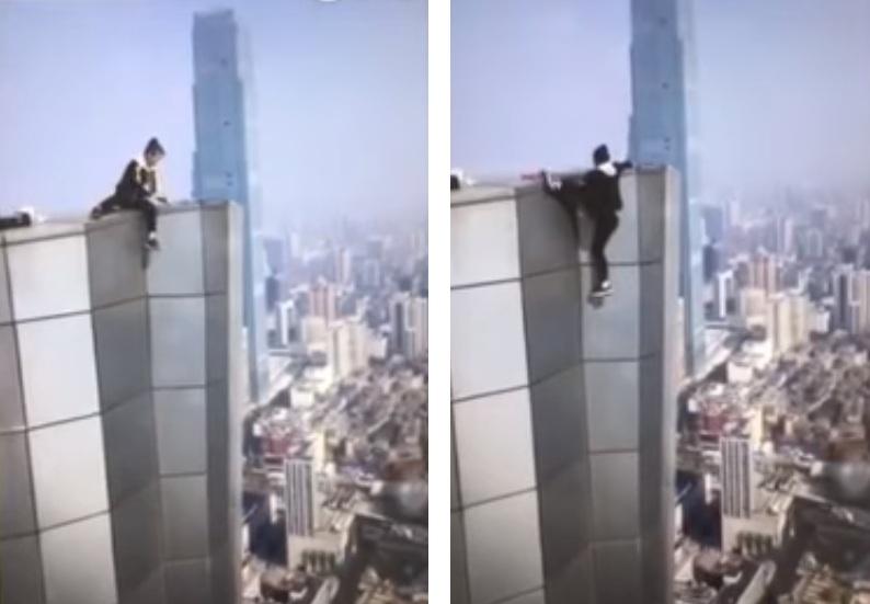 Youtuber chino cae del rascacielos de un edificio tras intentar una pirueta
