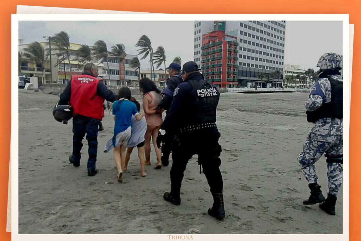 Mujer es detenida cuando intentaba ahogar a sus hijos en el mar