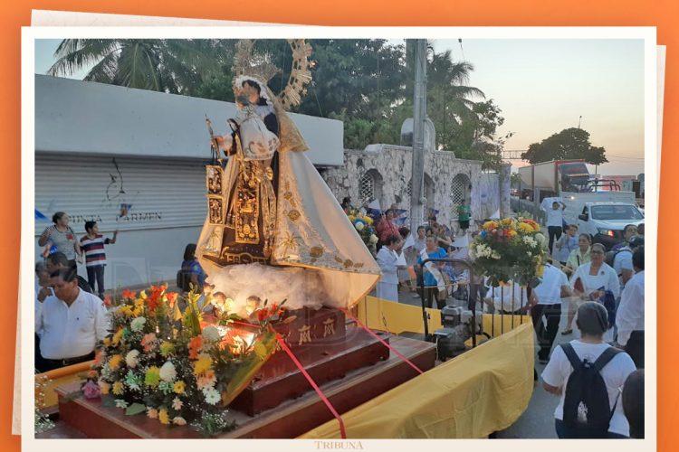 Con procesión celebran los 25 años del Zacatal